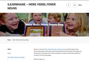 More Verbs Fewer Nouns Blog