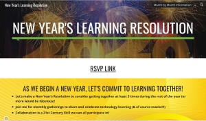 Saco's New Year's Resolution Professional Learning Opportunity